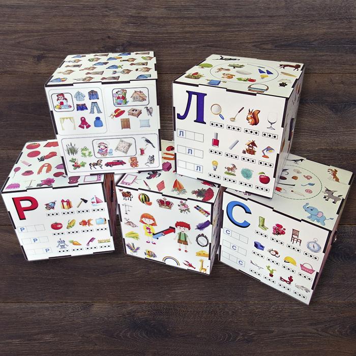 Дидактическая игра-пособие - Куб - Набор из 4 кубов